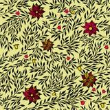 вектор картины безшовный Флористическая стильная предпосылка Стоковое Фото