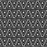 вектор картины безшовный Черно-белая геометрическая предпосылка с элементами нарисованными рукой декоративными племенными Печать  Стоковые Изображения
