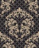 Вектор картины винтажного штофа безшовный Оформления темы роскошной структуры орнамента элегантной ретро стоковые изображения rf