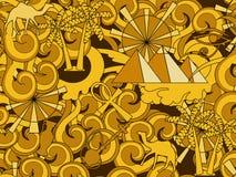 вектор картины Египета безшовный Нарисованные рукой элементы doodle старые египетские Стоковые Изображения RF