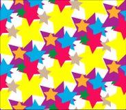 Вектор картины звезды установленный абстрактный иллюстрация штока