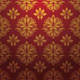 Вектор картины золота красный Стоковое Изображение RF