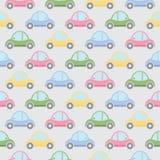 вектор картины иллюстрации шаржа автомобилей безшовный Стоковые Изображения RF