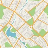 Вектор картины конспекта карты города безшовный Стоковые Изображения RF