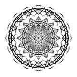 Вектор картины мандалы круглый этнический Стоковые Фото