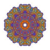 Вектор картины орнамента мандалы круглый Стоковое Фото