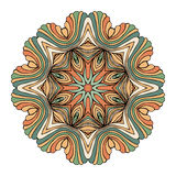 Вектор картины орнамента мандалы круглый Стоковые Фото