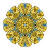 Вектор картины орнамента мандалы круглый Стоковая Фотография