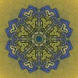 Вектор картины орнамента мандалы круглый Стоковые Фотографии RF