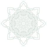 Вектор картины орнамента мандалы круглый Стоковая Фотография RF