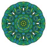 Вектор картины орнамента мандалы круглый Стоковое Изображение RF