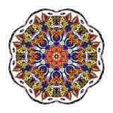 Вектор картины орнамента Zentangle мандалы круглый Стоковое Фото
