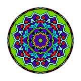 Вектор картины орнамента Zentangle мандалы круглый Стоковое Изображение