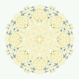 Вектор картины орнамента Zentangle мандалы круглый Стоковые Фото