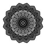 Вектор картины орнамента Zentangle мандалы круглый Стоковая Фотография RF