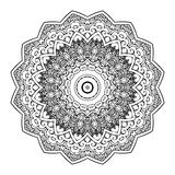 Вектор картины орнамента Zentangle мандалы круглый Стоковая Фотография