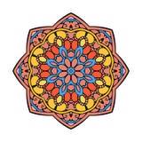 Вектор картины орнамента Zentangle мандалы круглый Стоковое фото RF