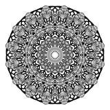 Вектор картины орнамента Zentangle мандалы круглый Стоковые Изображения