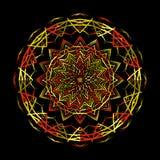 Вектор картины орнамента Zentangle мандалы круглый Стоковое Изображение RF