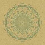 Вектор картины орнамента Zentangle мандалы круглый Стоковые Изображения RF