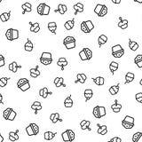 Вектор картины очень вкусных булочек разнообразия безшовный бесплатная иллюстрация