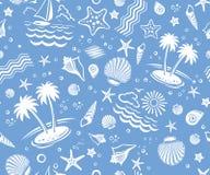 вектор картины пляжа безшовный Стоковые Фотографии RF