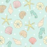 Вектор картины повторения Seashore пляжа лета безшовный иллюстрация штока