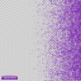 Вектор картины полутонового изображения синь круги к квадратам предпосылки Стоковая Фотография