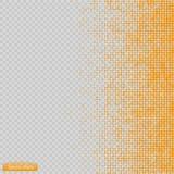 Вектор картины полутонового изображения синь круги к квадратам предпосылки Стоковое фото RF