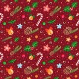 вектор картины рождества безшовный Стоковые Изображения RF