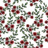 вектор картины цветков безшовный Стоковое Изображение RF