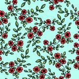вектор картины цветков безшовный Стоковые Изображения RF