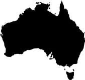 вектор карты Австралии Стоковые Фото