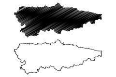 Вектор карты Астурии иллюстрация вектора