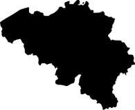 вектор карты Бельгии Стоковая Фотография RF