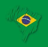 вектор карты Бразилии Стоковое Изображение