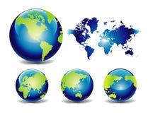 вектор карты глобуса Стоковые Изображения