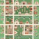 вектор карты города безшовный Стоковое Изображение RF