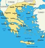 вектор карты Греции страны Стоковые Изображения