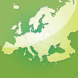 вектор карты европы Стоковое Фото