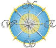 вектор карты компаса Стоковые Изображения RF