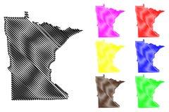 Вектор карты Минесоты Стоковые Изображения RF
