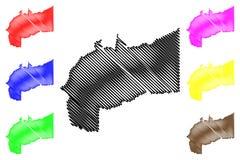 Вектор карты отдела меты иллюстрация штока
