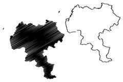 Вектор карты отдела Cauca иллюстрация штока