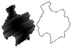 Вектор карты провинции Bac Kan бесплатная иллюстрация