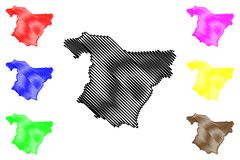 Вектор карты провинции Bouira