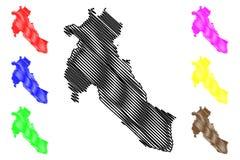 Вектор карты провинции Djelfa