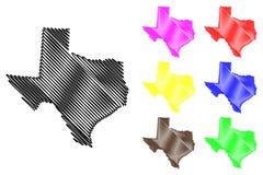 Вектор карты Техаса Стоковая Фотография