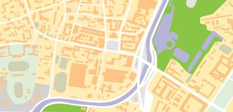 вектор карты Стоковая Фотография RF