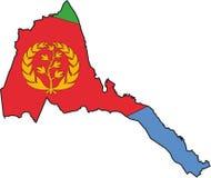 вектор карты eritrea иллюстрация штока